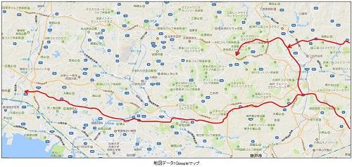 中国道、山陽道渋滞を回避する兵庫県一般道路