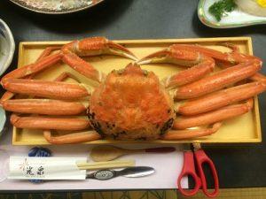 日本海のカニを楽しむ