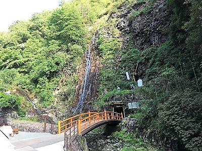 史跡・生野銀山(坑道出口)